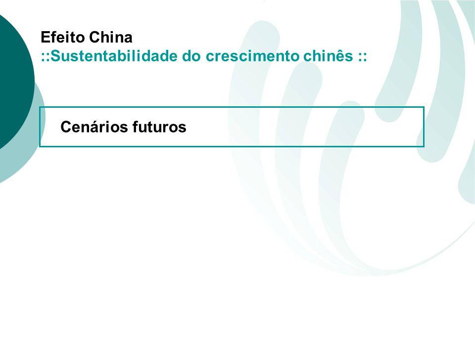 Efeito China Cenários futuros ::Sustentabilidade do crescimento chinês ::