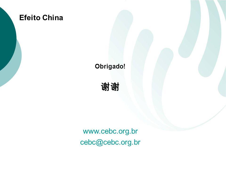 Efeito China Obrigado! www.cebc.org.br cebc@cebc.org.br