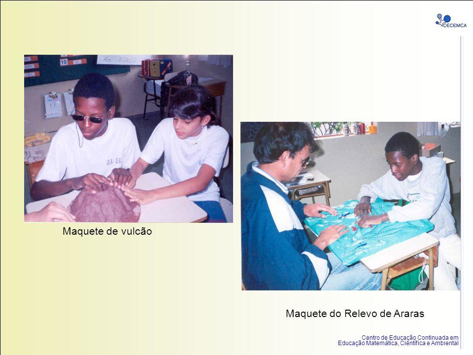 Centro de Educação Continuada em Educação Matemática, Científica e Ambiental Maquete de vulcão Maquete do Relevo de Araras
