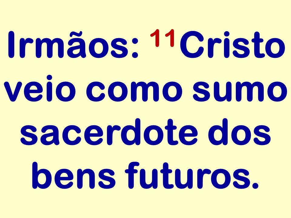 Irmãos: 11 Cristo veio como sumo sacerdote dos bens futuros.