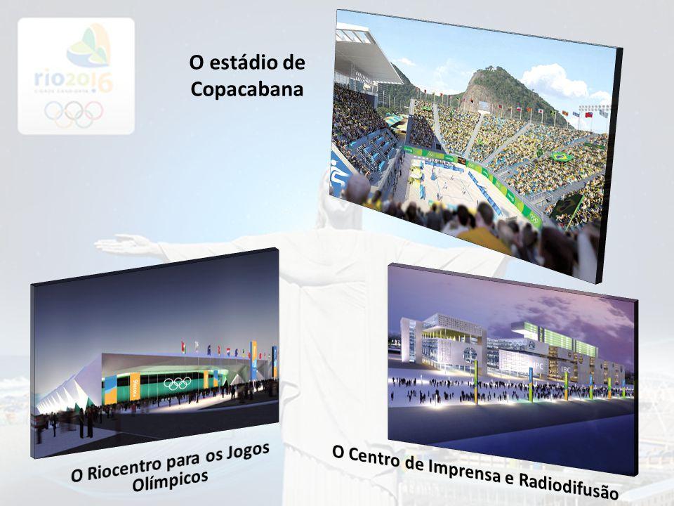 O estádio de Copacabana