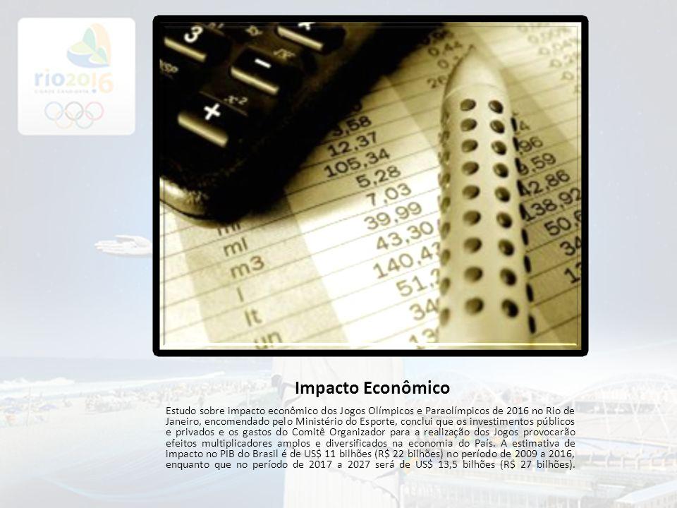 Impacto Econômico Estudo sobre impacto econômico dos Jogos Olímpicos e Paraolímpicos de 2016 no Rio de Janeiro, encomendado pelo Ministério do Esporte