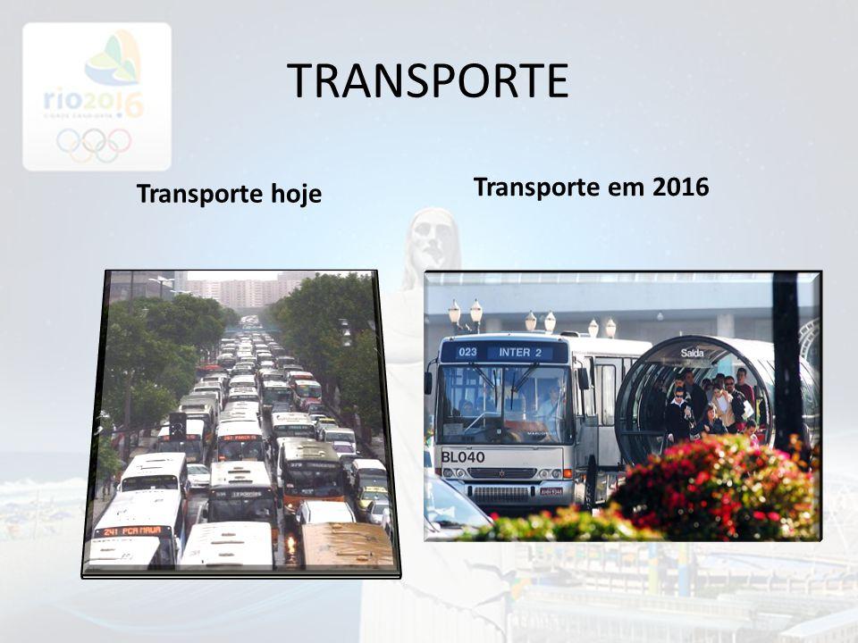TRANSPORTE Transporte hoje Transporte em 2016