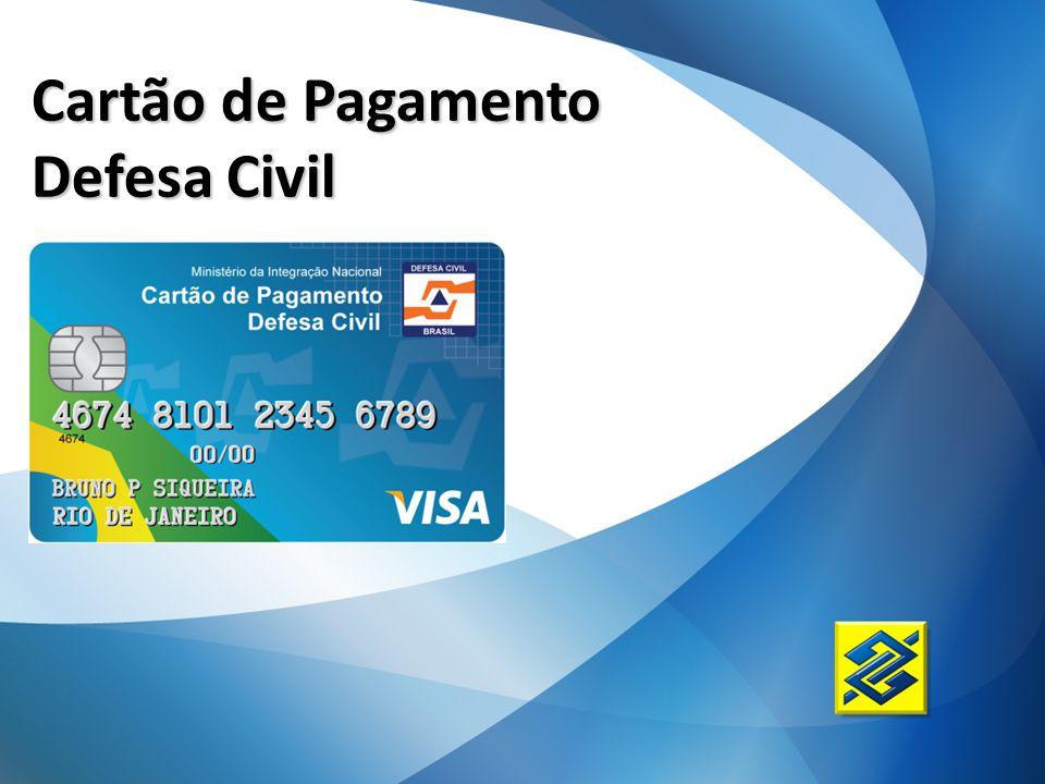 Cartão de Pagamento Defesa Civil