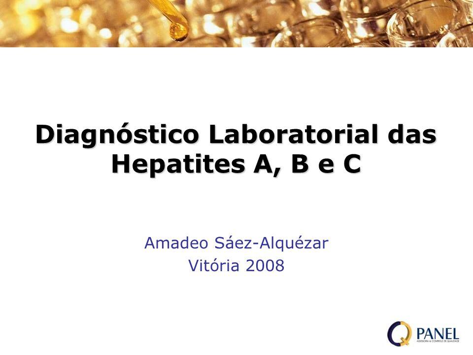 Teste para HCV recomendado em: Usuários de drogas ilícitas injetáveis Quem recebeu fatores de coagulação antes de 1987 Quem recebeu hemocomponentes ou órgãos antes de 1992 Pacientes submetidos a hemodiálise Evidência de doença hepática Profissionais da área da saúde (com suspeita de exposição a sangue contaminado com HCV) Crianças nascidas de mães HCV positivas
