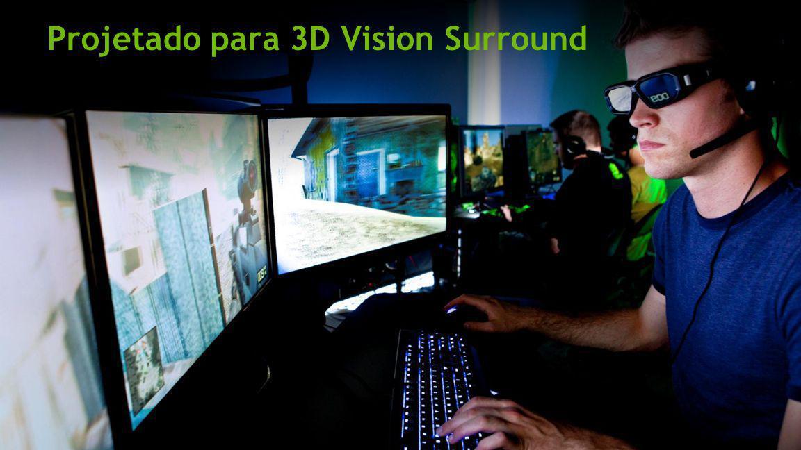 Projetado para 3D Vision Surround