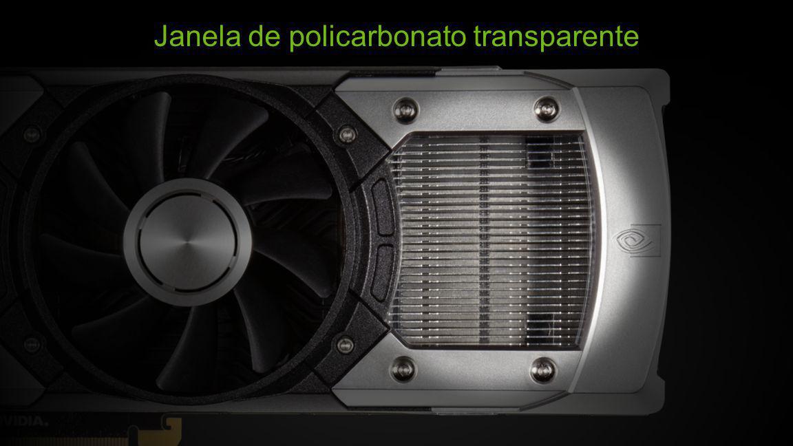 Janela de policarbonato transparente