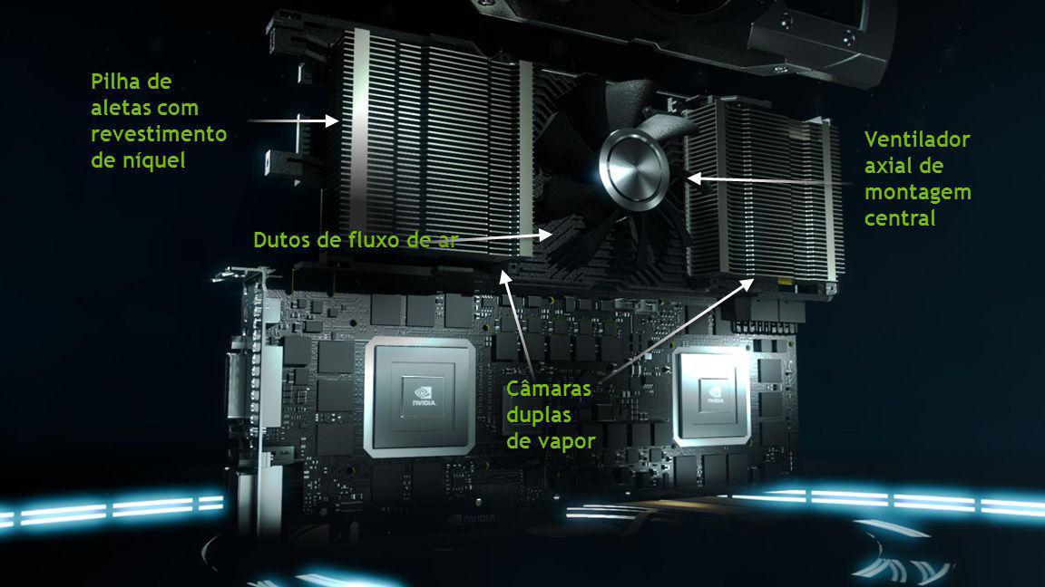 Câmaras duplas de vapor Ventilador axial de montagem central Pilha de aletas com revestimento de níquel Dutos de fluxo de ar
