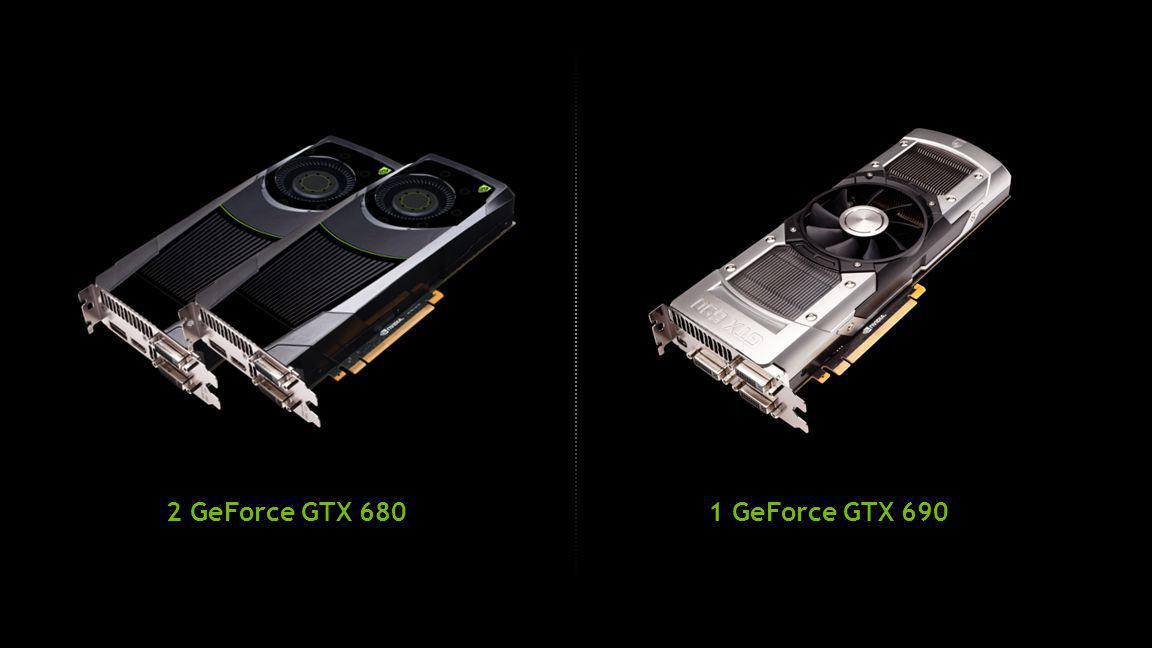1 GeForce GTX 6902 GeForce GTX 680