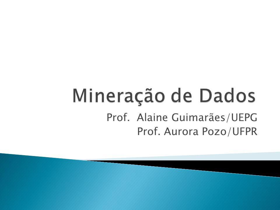 W Mineração de dados é o passo do processo de KDD que produz um conjunto de padrões sob um custo computacional aceitável; W KDD utiliza algoritmos de data mining para extrair padrões classificados como conhecimento.