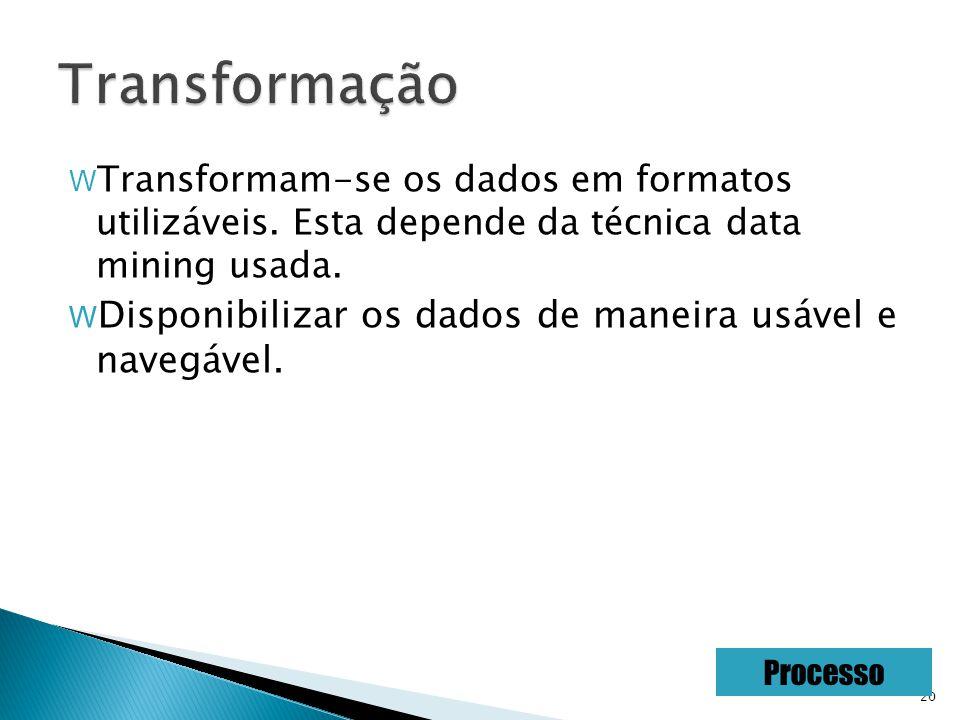 20 W Transformam-se os dados em formatos utilizáveis.