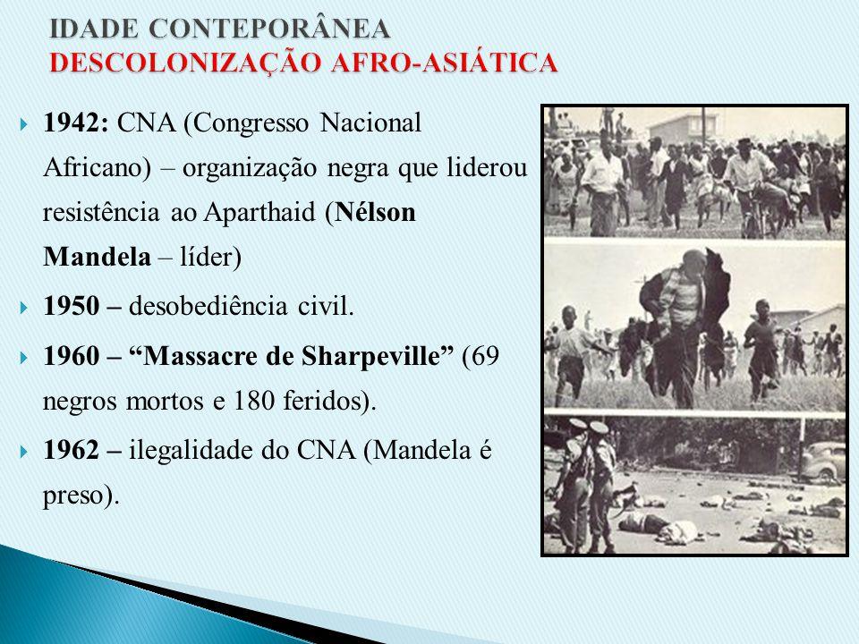 Criação dos Bantustões (divisão tribal e confinamento dos negros em 13% do território). = bantustões
