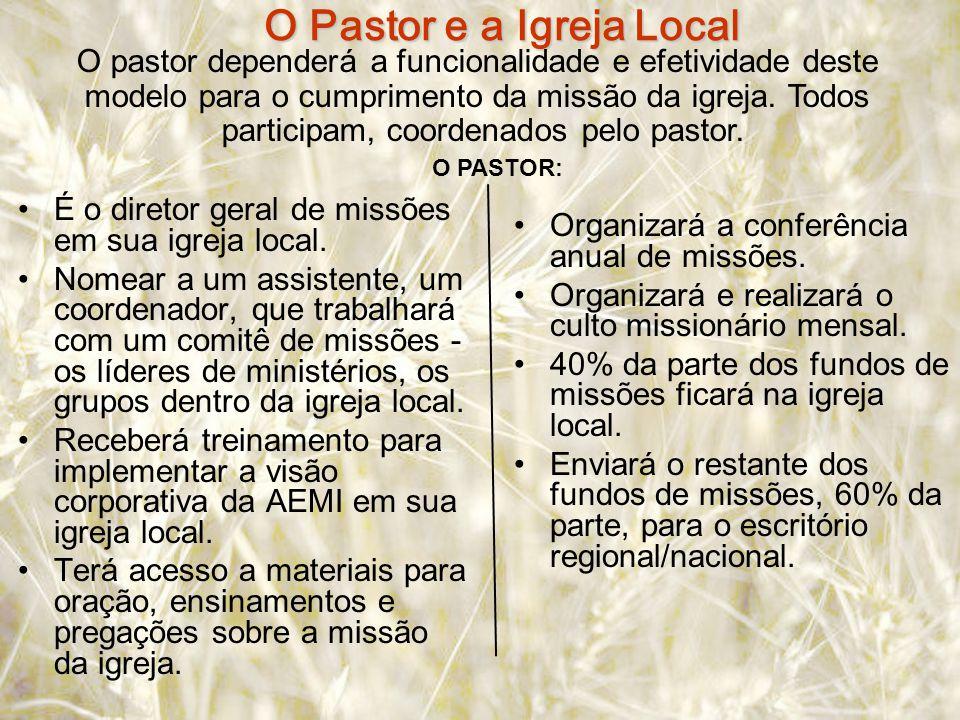 É o diretor geral de missões em sua igreja local.