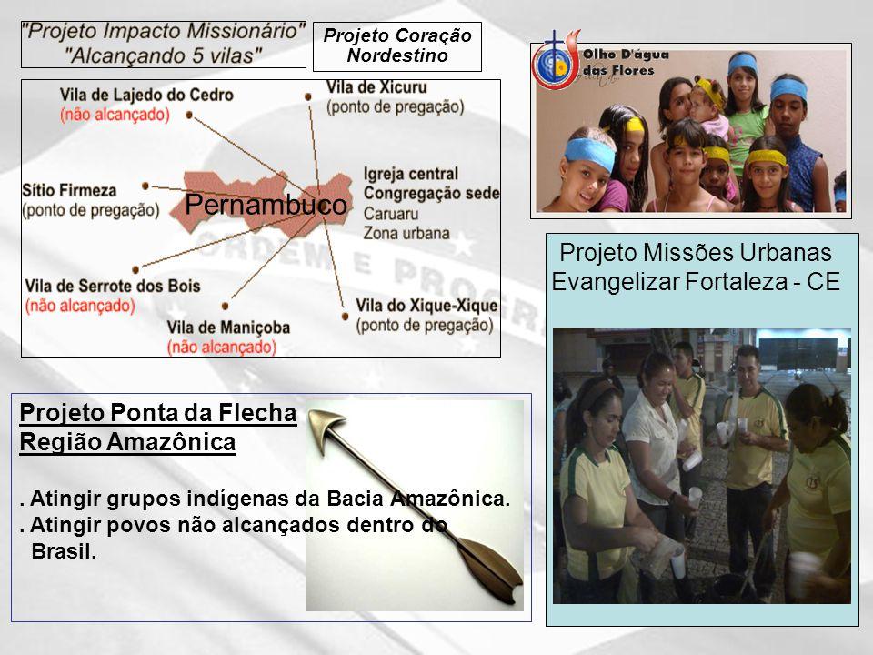 Projeto Ponta da Flecha Região Amazônica.Atingir grupos indígenas da Bacia Amazônica..