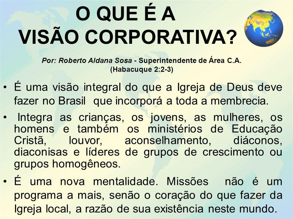 É uma visão integral do que a Igreja de Deus deve fazer no Brasil que incorporá a toda a membrecia.