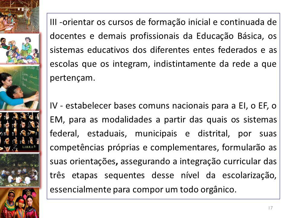 17 deve priorizar os processos capazes de gerar sujeitos inventivos, participativos, cooperativos, preparados para diversificadas inserções sociais, p