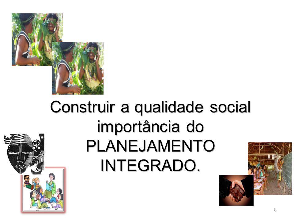 8 Construir a qualidade social importância do PLANEJAMENTO INTEGRADO.