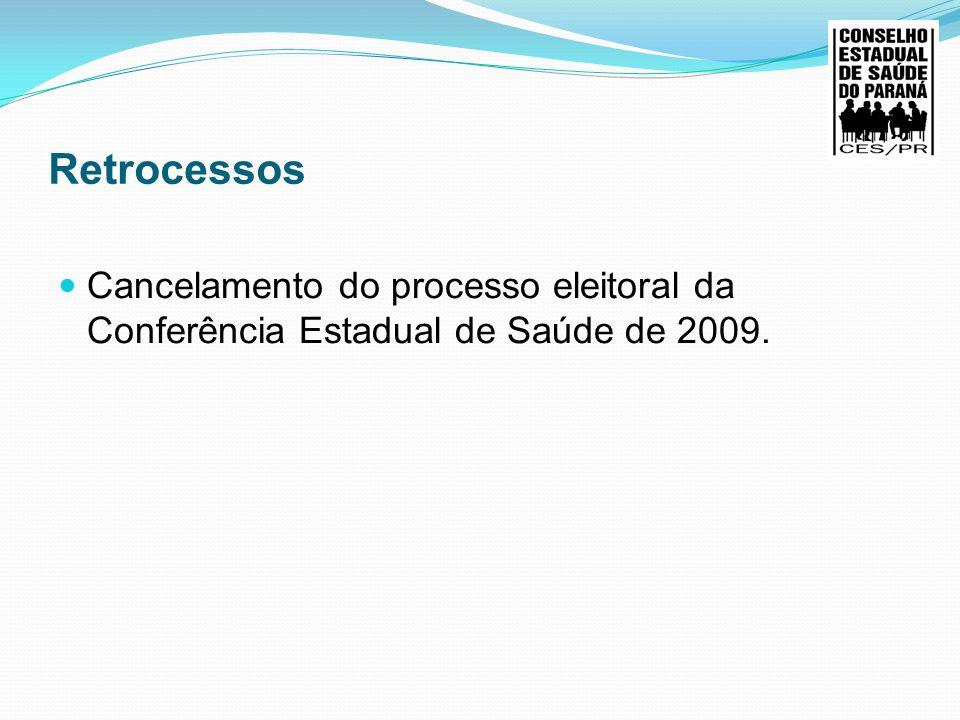 Sucessos Fortalecimento do CES, com os assessores das regionais de saúde e os coordenadores de plenária Planejamento Estratégico do CES 10ª Conferência Estadual de Saúde do Paraná (2 anos para 4 Anos) 4 Macros regionais, Capacitação para os Apoios para o Controle Social ( Secretarios executivos, Conselheiros Estaduais, Coordenadores Plenaria, Assessores das Regionais e Apoio do Cosems;