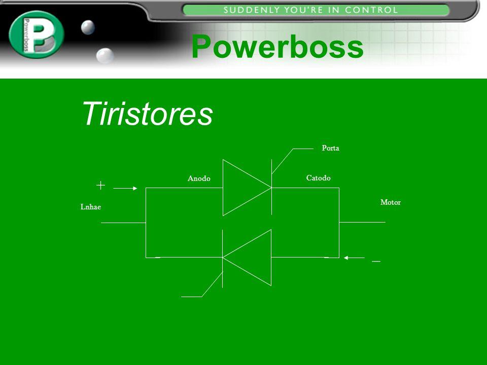 Tiristores Porta Anodo Catodo Lnhae Motor + _ Powerboss