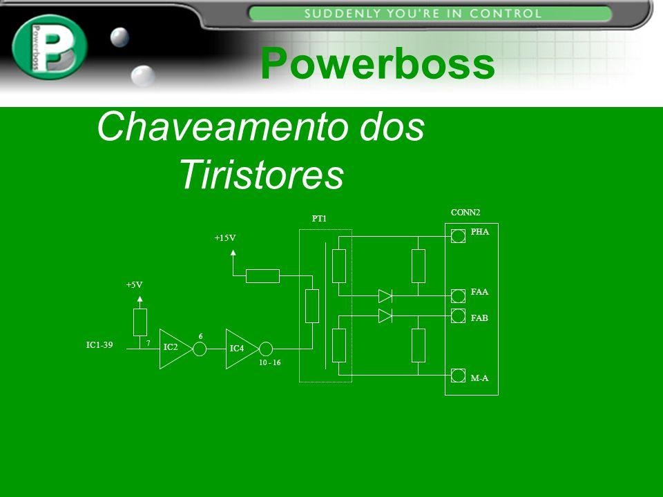 Chaveamento dos Tiristores 10 - 16 PT1 6 IC1-39 7 +5V IC2 IC4 +15V CONN2 PHA FAA FAB M-A Powerboss