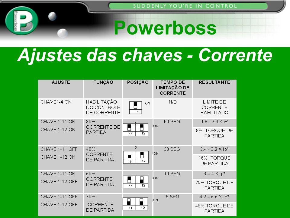Ajustes das chaves - Corrente Powerboss 2 2