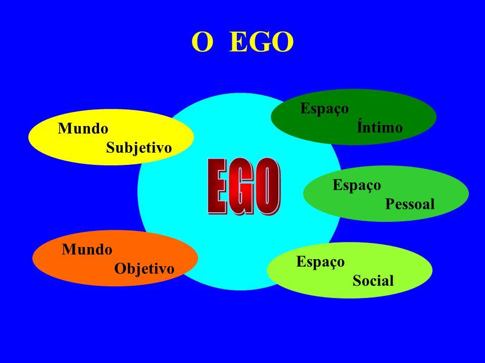 O EGO Mundo Subjetivo Mundo Objetivo Espaço Social Espaço Íntimo Espaço Pessoal