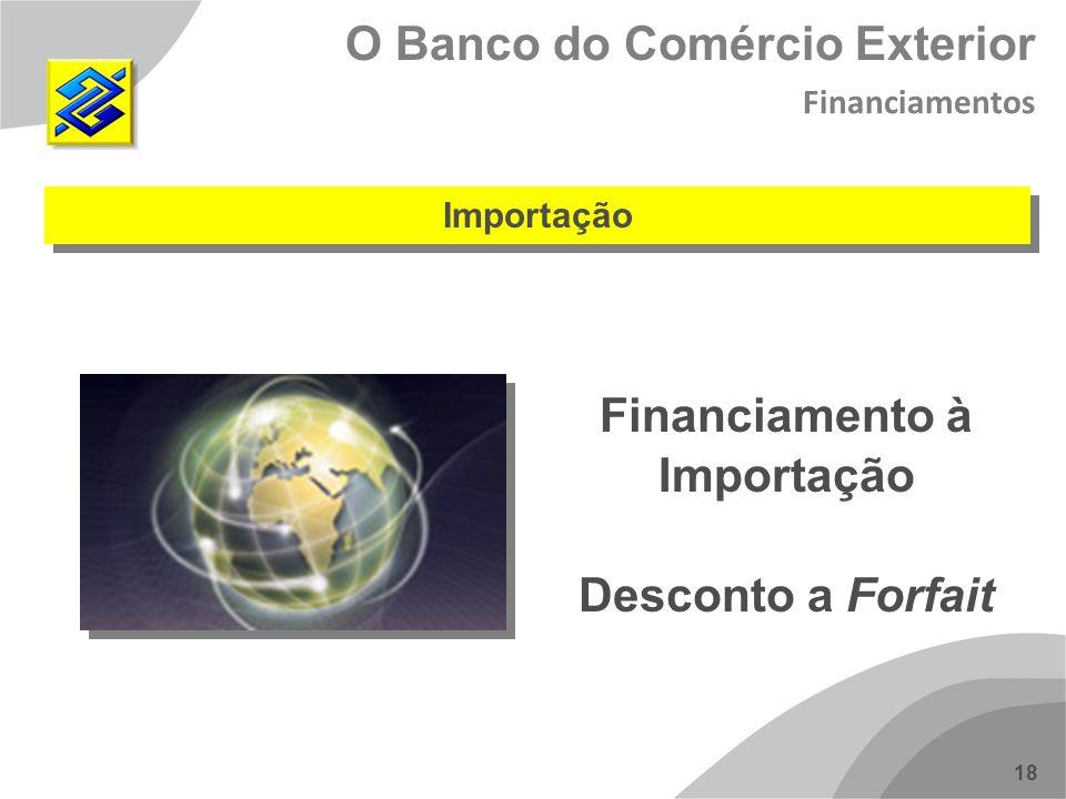 18 Importação Financiamento à Importação Desconto a Forfait O Banco do Comércio Exterior Financiamentos
