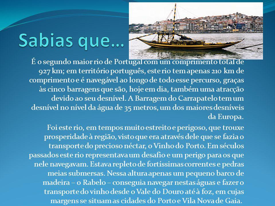 Texto tirado de: http://pt.wikipedia.org/wiki/Rio_Douro http://www.douroazul.pt/Rio_Douro-73.aspx Imagens tiradas de: Google Imagens Trabalho realizado por: Tomás Pereira de Almeida Feito no dia: 15/01/2012