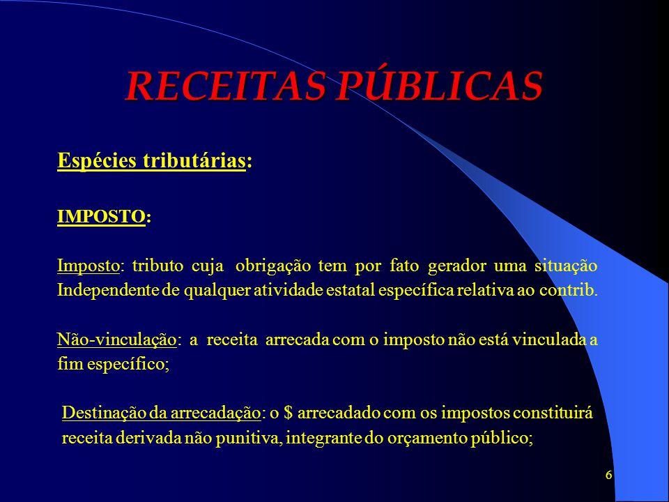 7 RECEITAS PÚBLICAS Art.