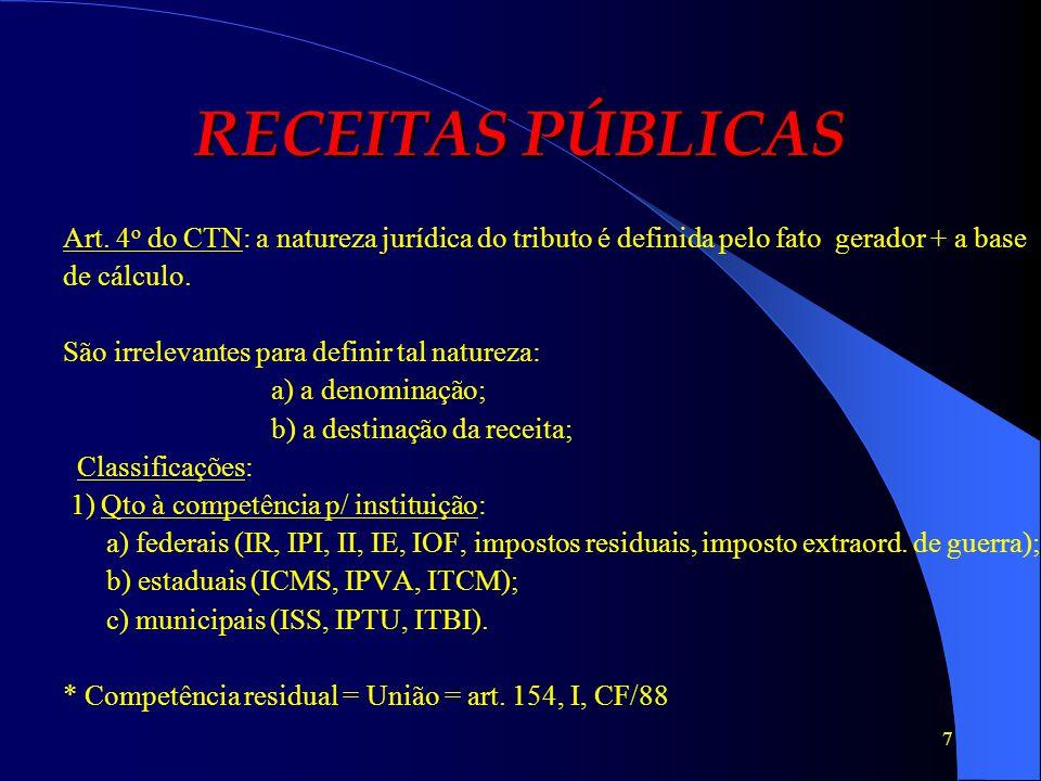 18 RECEITAS PÚBLICAS Empréstimos: têm natureza jurídica distinta: - são contratos; - decorrem de atos voluntários; - podem ser sob a forma de mútuo ou comodato; - são gratuitos ou onerosos.