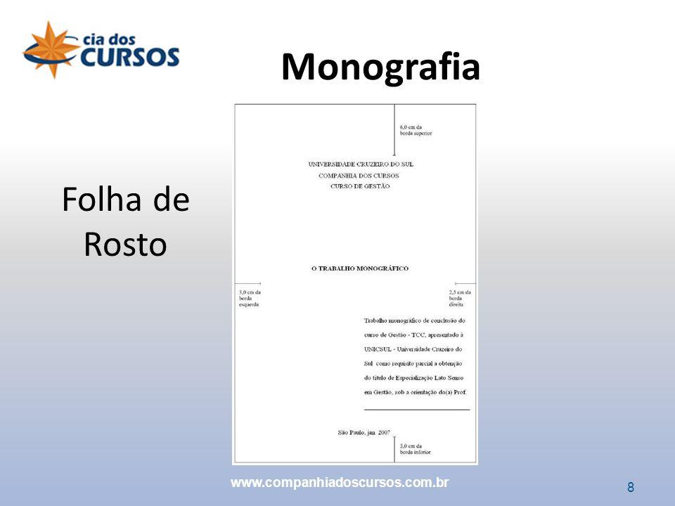 19 Epígrafe (Opcional) Monografia www.companhiadoscursos.com.br