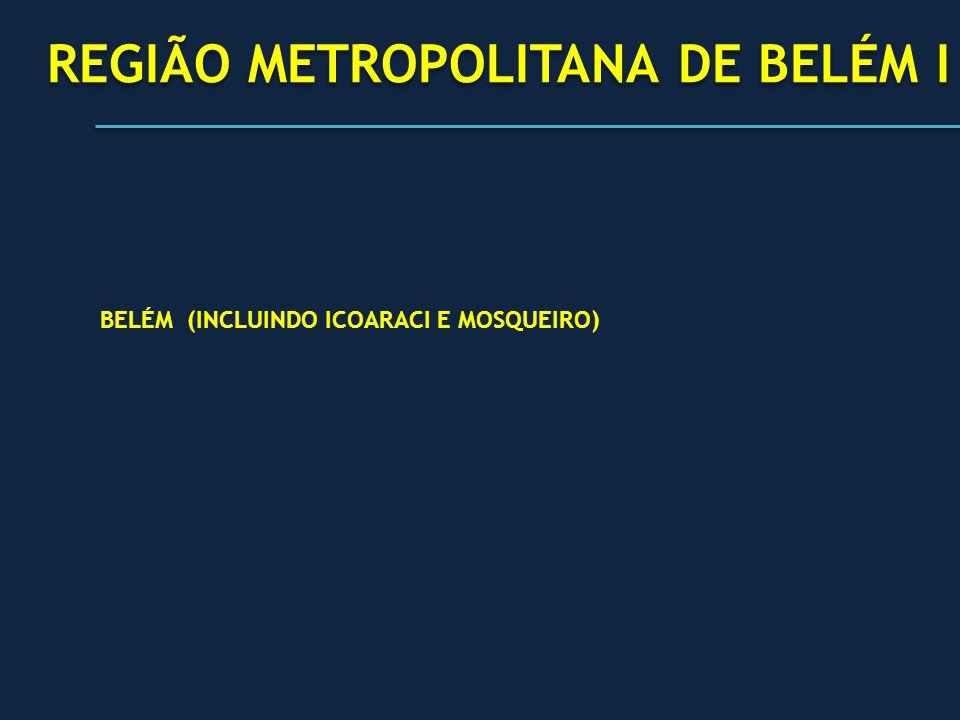 PÓLO BELÉM PÓLO BELÉM REGIÃO METROPOLITANA DE BELÉM I REGIÃO METROPOLITANA DE BELÉM I