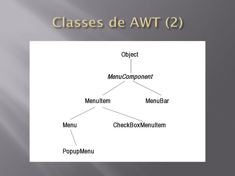 Criado em 1997 Extensão da AWT - Abstract Window Toolkit Classes implementadas inteiramente em Java Mesma estrutura que os componentes AWT Componentes que fornecem melhores alternativas para a implementação de interfaces gráficas – JButton no lugar de Button, – JFrame no lugar de Frame, etc.