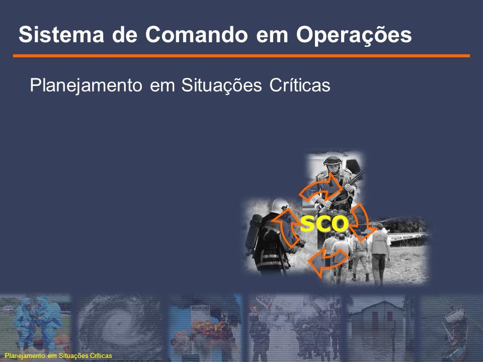 Planejamento em Situações Críticas SCO Sistema de Comando em Operações Planejamento em Situações Críticas