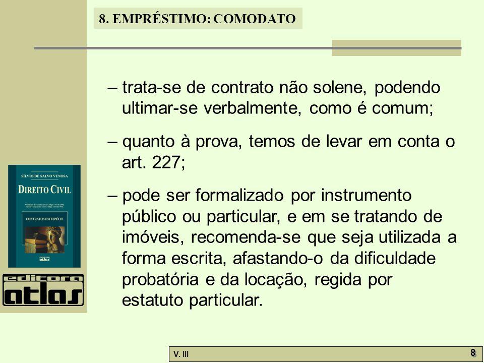 8.EMPRÉSTIMO: COMODATO V. III 9 9 8.3.