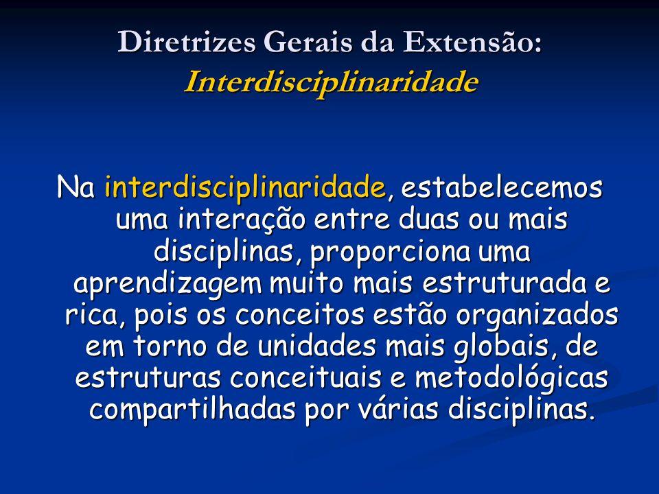 Na interdisciplinaridade, estabelecemos uma interação entre duas ou mais disciplinas, proporciona uma aprendizagem muito mais estruturada e rica, pois