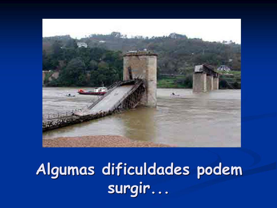 Algumas dificuldades podem surgir...