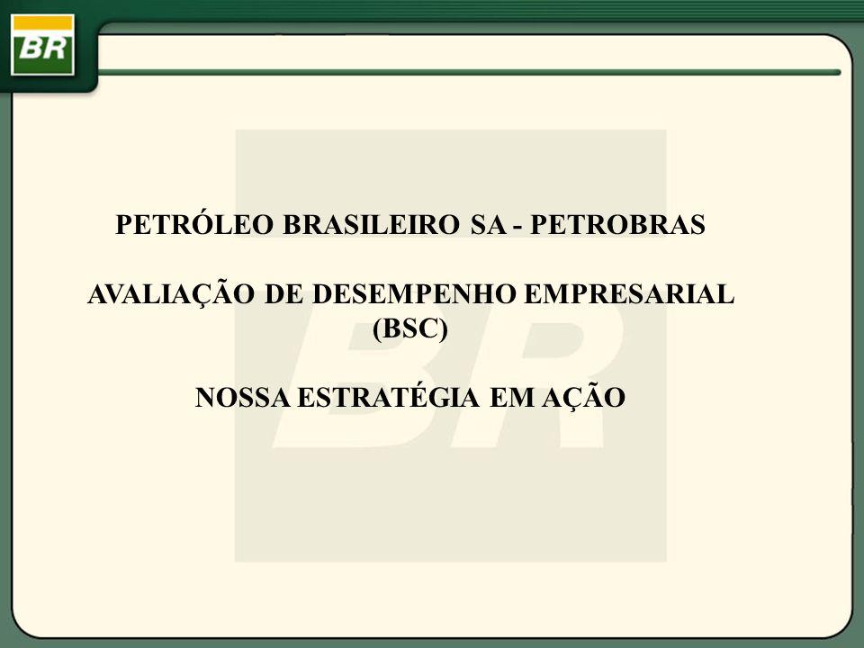 PETRÓLEO BRASILEIRO SA - PETROBRAS AVALIAÇÃO DE DESEMPENHO EMPRESARIAL (BSC) NOSSA ESTRATÉGIA EM AÇÃO