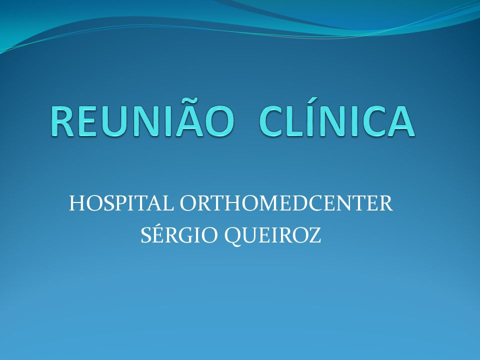 HOSPITAL ORTHOMEDCENTER SÉRGIO QUEIROZ