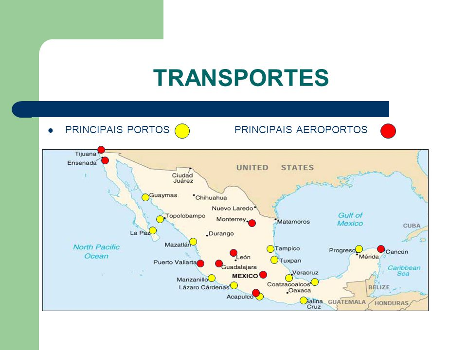 TRANSPORTES PRINCIPAIS PORTOSPRINCIPAIS AEROPORTOS