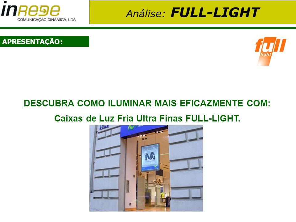 Análise: FULL-LIGHT APRESENTAÇÃO: DESCUBRA COMO ILUMINAR MAIS EFICAZMENTE COM: Caixas de Luz Fria Ultra Finas FULL-LIGHT.