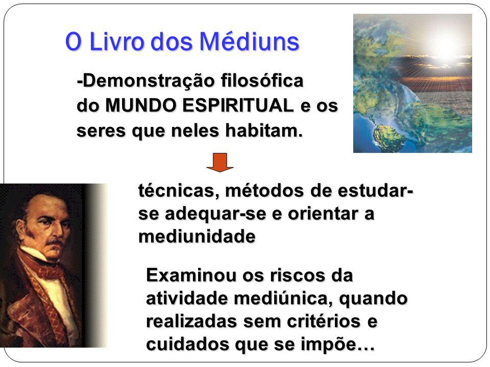 O Livro dos Médiuns -Demonstração filosófica do MUNDO ESPIRITUAL e os seres que neles habitam. técnicas, métodos de estudar- se adequar-se e orientar