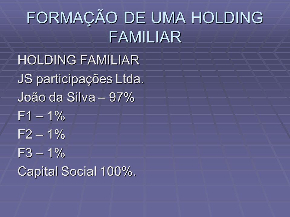 FORMAÇÃO DE UMA HOLDING FAMILIAR HOLDING FAMILIAR JS participações Ltda.