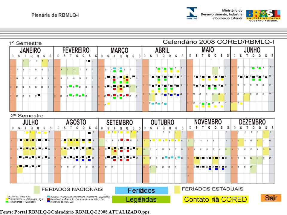 Plenária da RBMLQ-I Fonte: Portal RBMLQ-I/Calendário RBMLQ-I 2008 ATUALIZADO.pps.