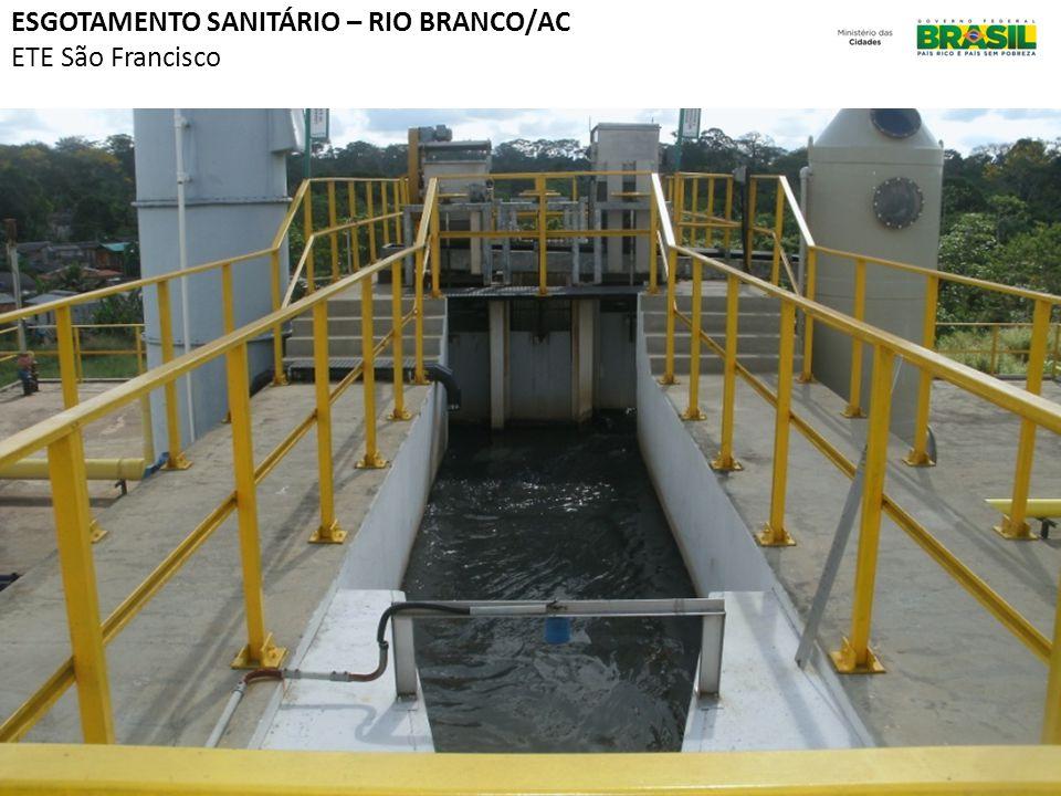 Emblemática ESGOTAMENTO SANITÁRIO – RIO BRANCO/AC ETE São Francisco