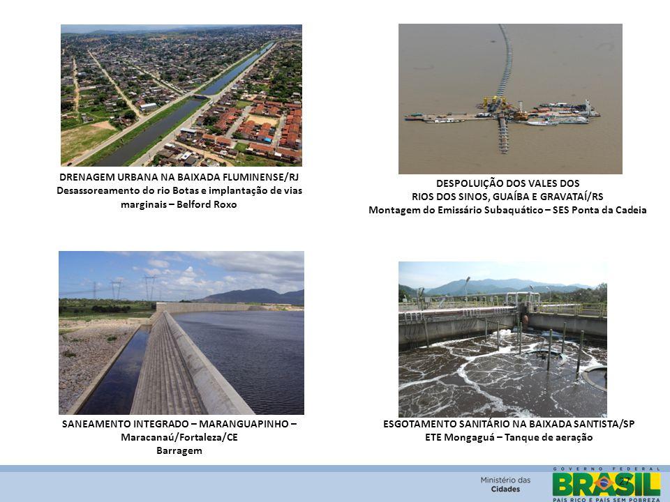 27 DRENAGEM URBANA NA BAIXADA FLUMINENSE/RJ Desassoreamento do rio Botas e implantação de vias marginais – Belford Roxo DESPOLUIÇÃO DOS VALES DOS RIOS