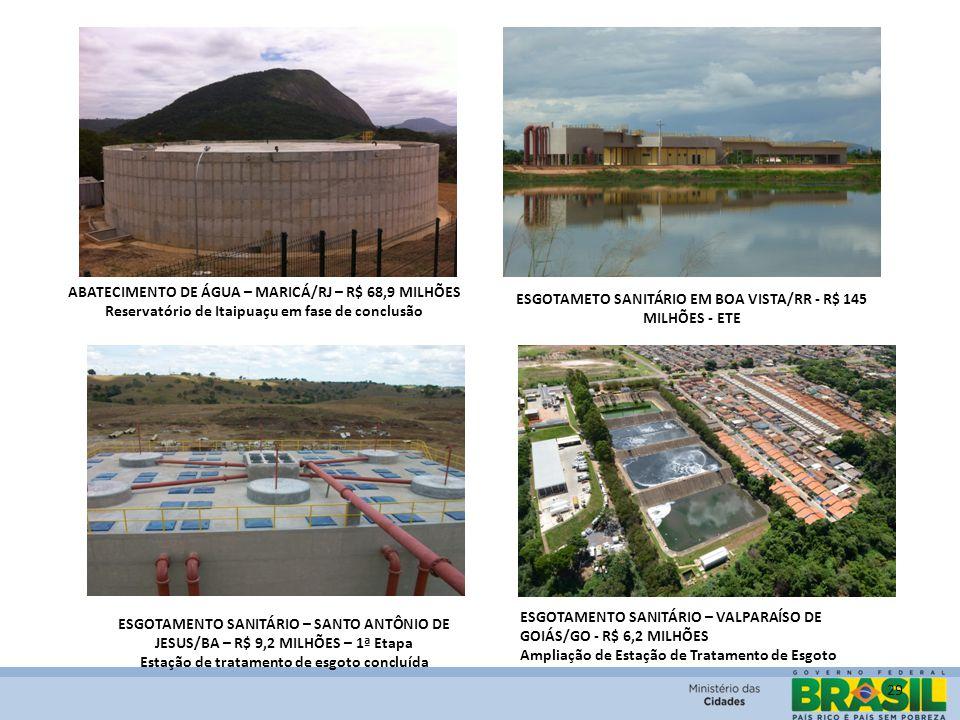 29 ABATECIMENTO DE ÁGUA – MARICÁ/RJ – R$ 68,9 MILHÕES Reservatório de Itaipuaçu em fase de conclusão ESGOTAMENTO SANITÁRIO – SANTO ANTÔNIO DE JESUS/BA