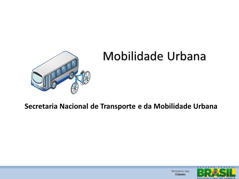 Mobilidade Urbana Secretaria Nacional de Transporte e da Mobilidade Urbana