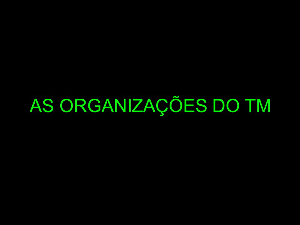 AS ORGANIZAÇÕES DO TM