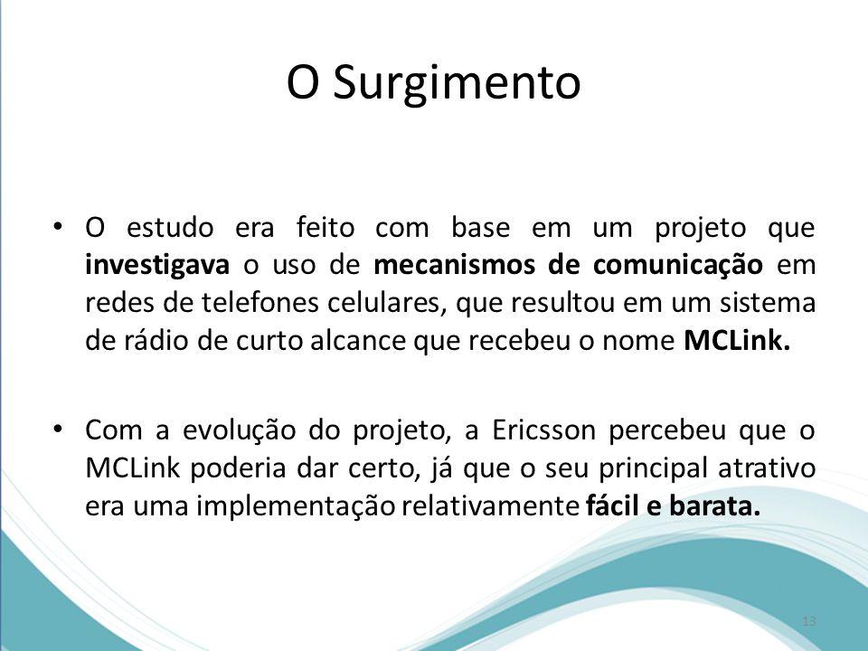 O Surgimento O estudo era feito com base em um projeto que investigava o uso de mecanismos de comunicação em redes de telefones celulares, que resulto